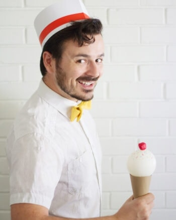 DIY Soda Jerk Halloween Costume