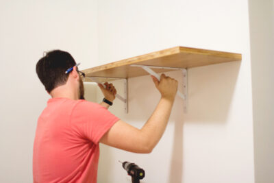 DIY Laundry Room Shelving