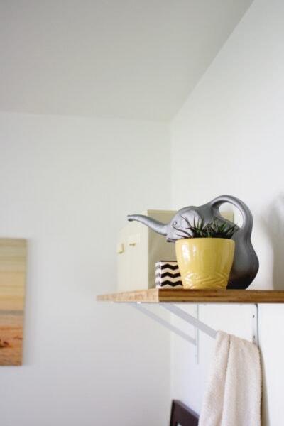 DIY Laundry Room Shelving