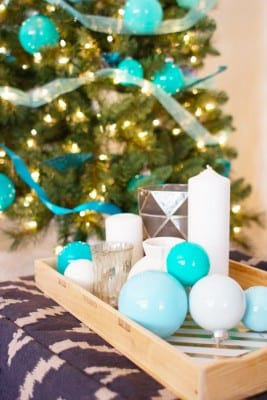 DIY Painted Ombre Christmas Tree Ornaments