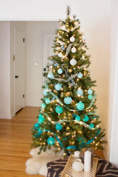 DIY Ombre Christmas Tree