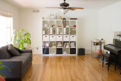 Living Room and Office Before and After
