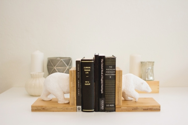 diy faux ceramic animal bookends two ways lovely indeed. Black Bedroom Furniture Sets. Home Design Ideas