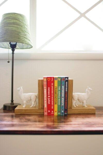DIY Faux Ceramic Animal Bookends