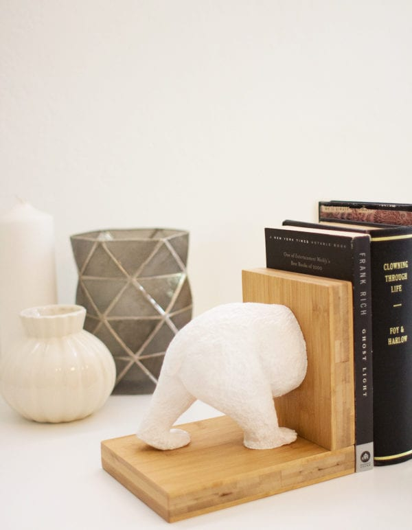DIY Faux Ceramic Animal Bookends, Two Ways thumbnail
