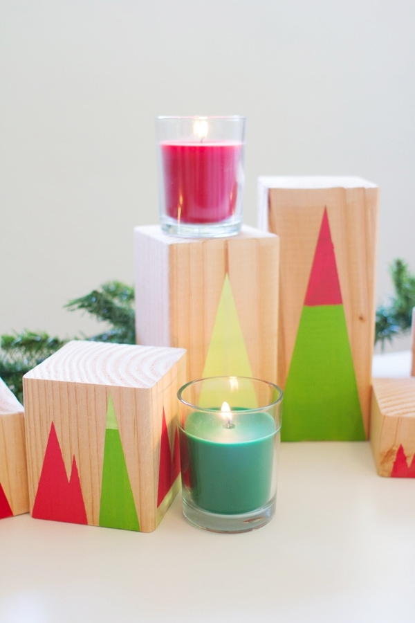 DIY Modern Geometric Forest Holiday Decor