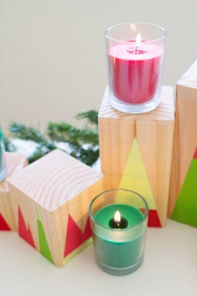 DIY Modern Geometric Forest Holiday Decor