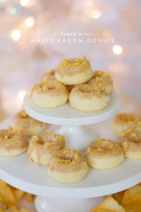 Mini Baked Maple Bacon Donuts