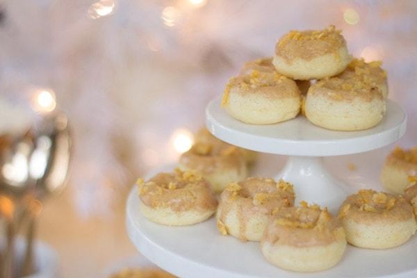 Mini Baked Maple Bacon Donuts