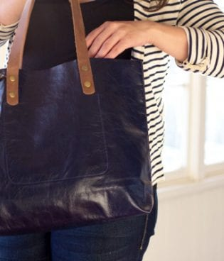 Leah Lerner Leather Tote Giveaway! thumbnail