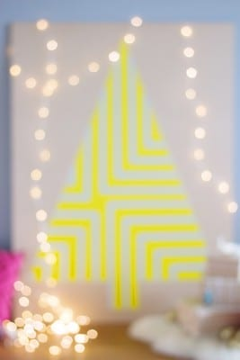 DIY Painted Plywood Geometric Christmas Tree