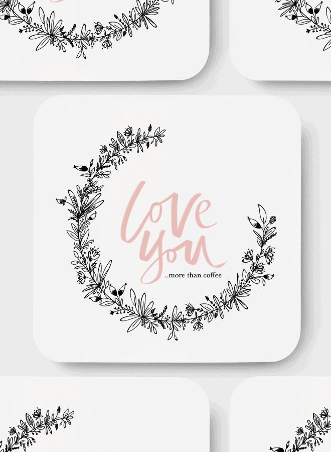 Printable Floral Valentine Card