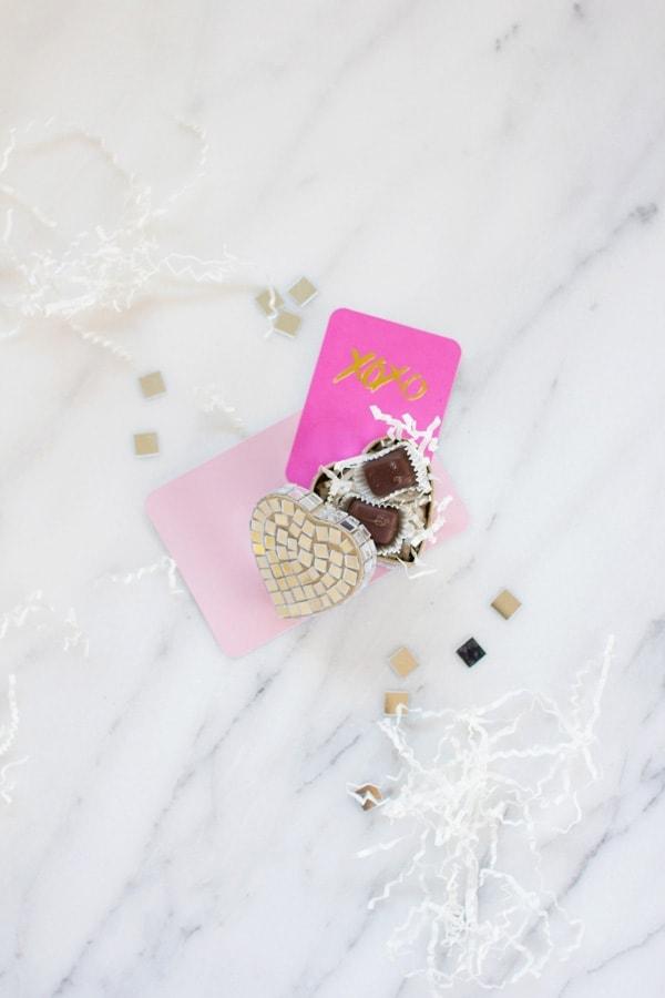 DIY Disco Heart Valentine
