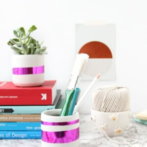 DIY Mylar Desk Organizer Containers
