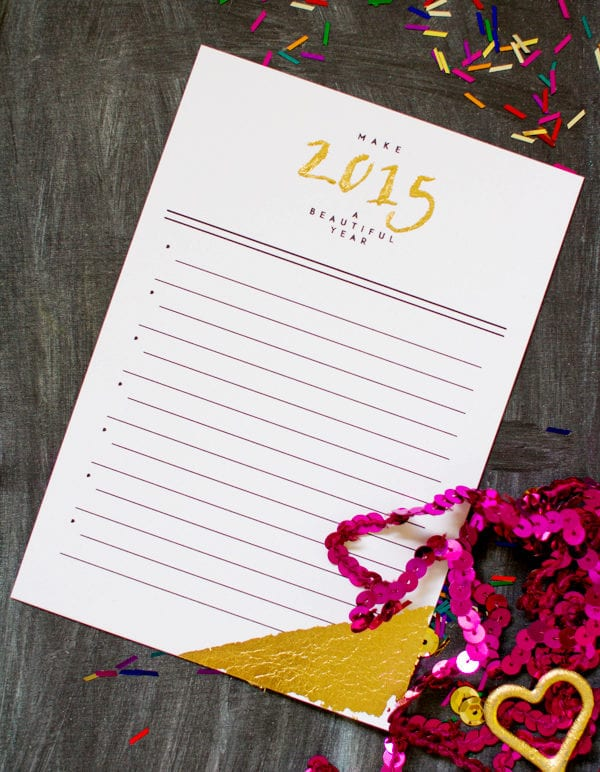 New Year's Resolution Printable Card thumbnail