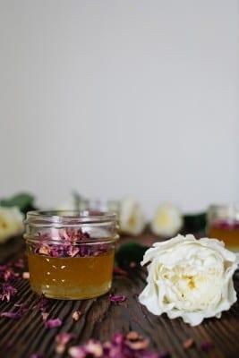 DIY Rose Petal Infused Honey