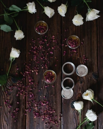 DIY Rose Petal Infused Honey
