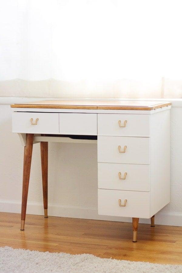 DIY Vanity From A Vintage Sewing Desk