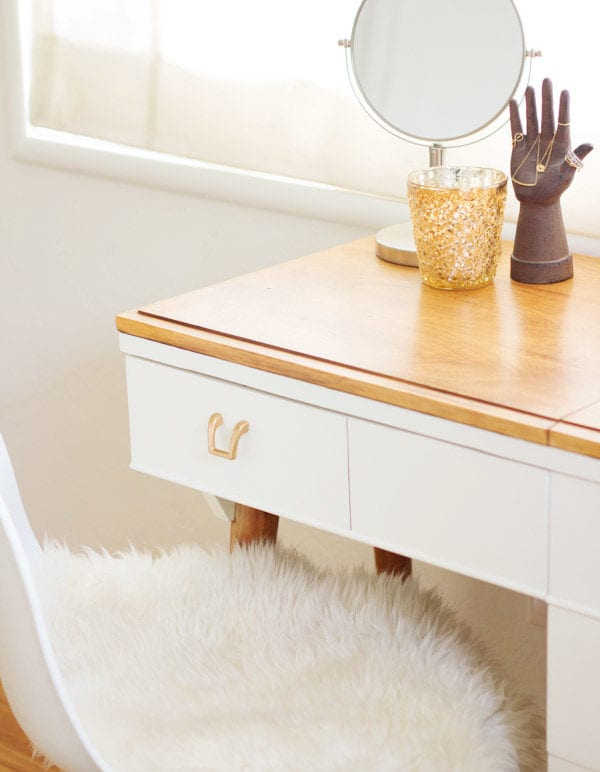 DIY Vanity from a Vintage Sewing Table thumbnail