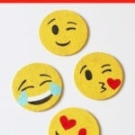 DIY coasters emoji craft