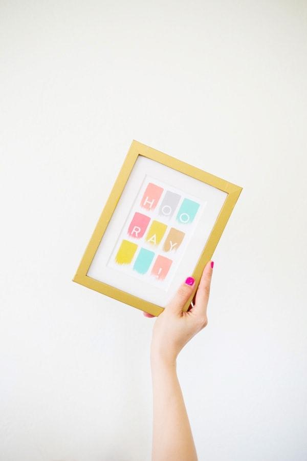 Gold Photo Frame DIY