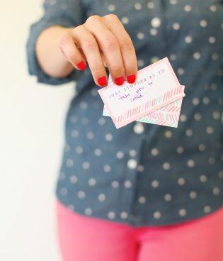 DIY Printable Spring Calling Cards thumbnail