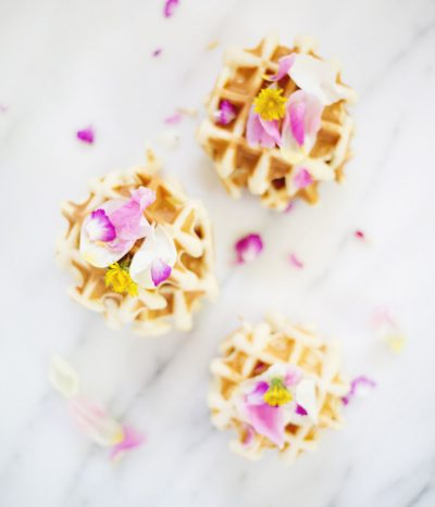 Easter Brunch Idea // Edible Flower Waffles thumbnail