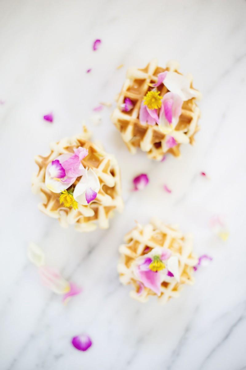 DIY Edible Flower Waffles