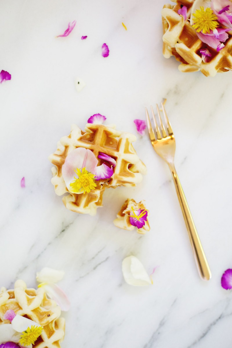 DIY Edible Flower Waffles