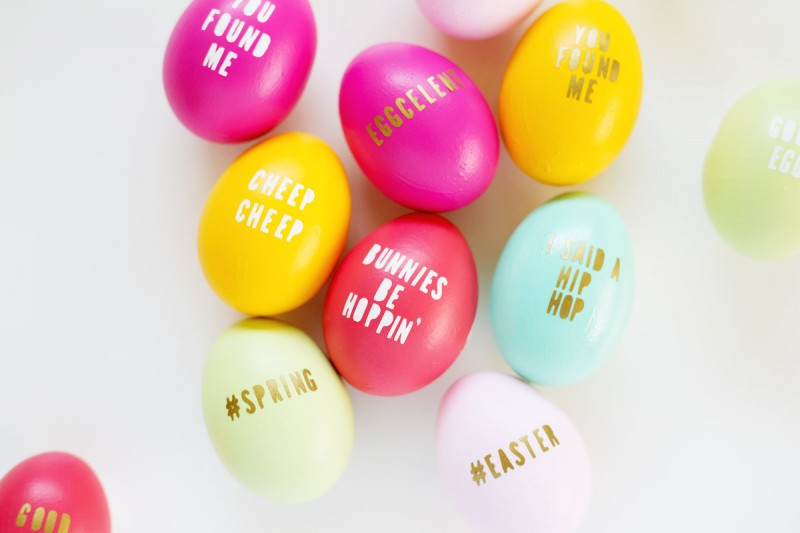 DIY Typography Easter Eggs