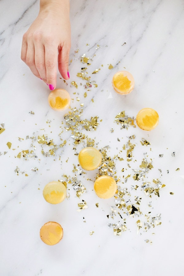 DIY Edible Gold Macarons