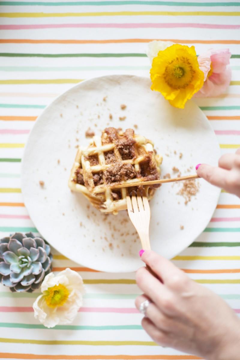 Crumb Coffeecake Waffles