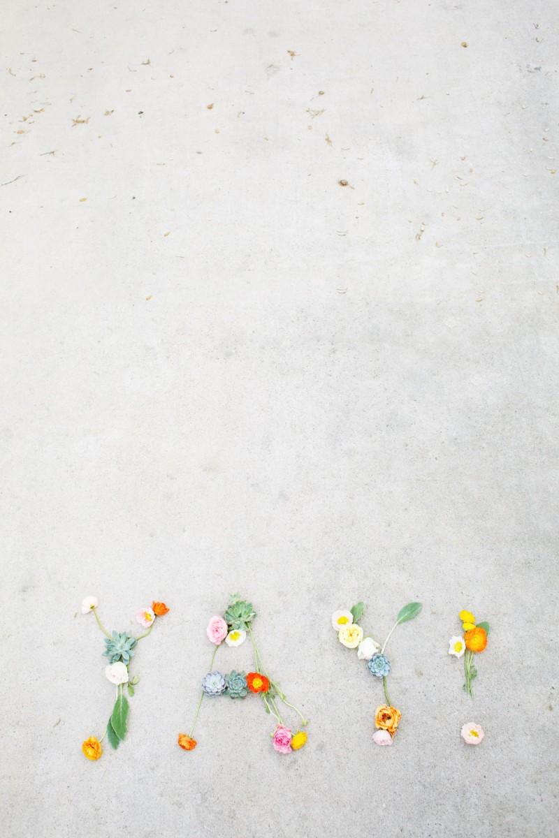 DIY Flower Messages