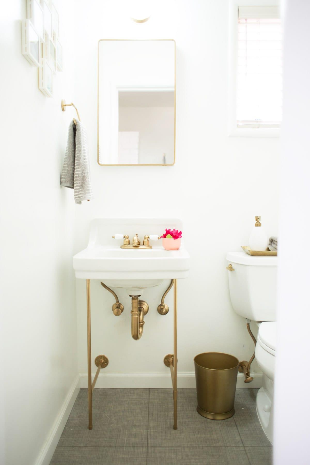 Amazing DIY Gold Sink Legs