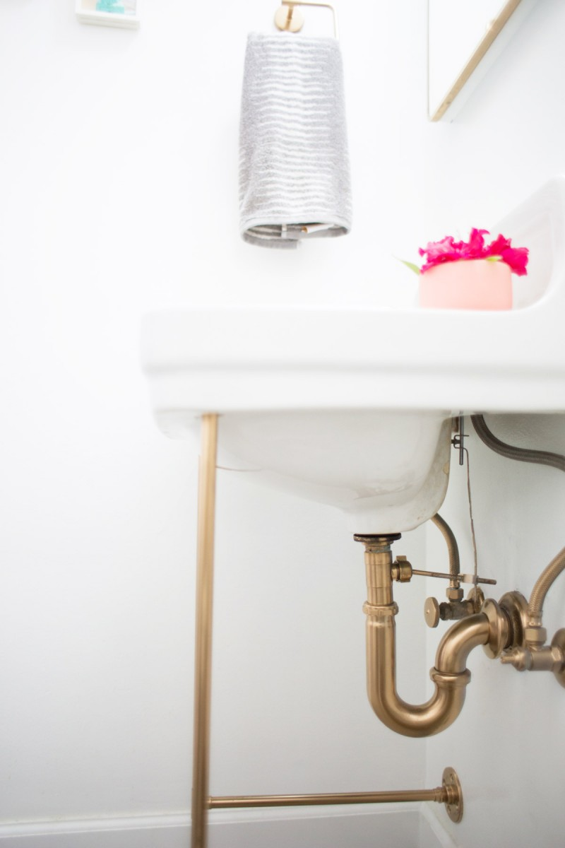 DIY Gold Sink Legs