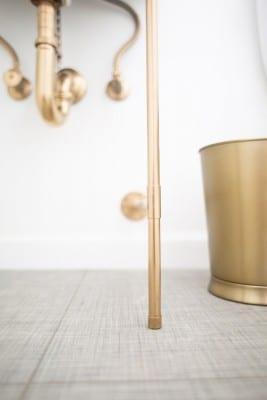 DIY Gold Sink Legs