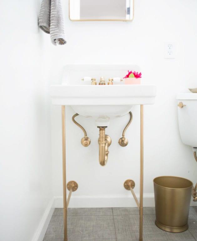 DIY Gold Sink Legs thumbnail