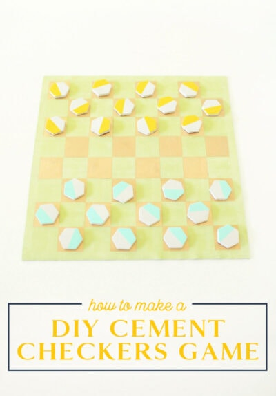 diy cement checkers game