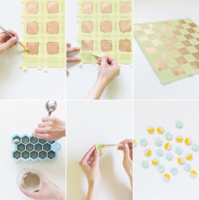 DIY Leather Checker Board Tutorial