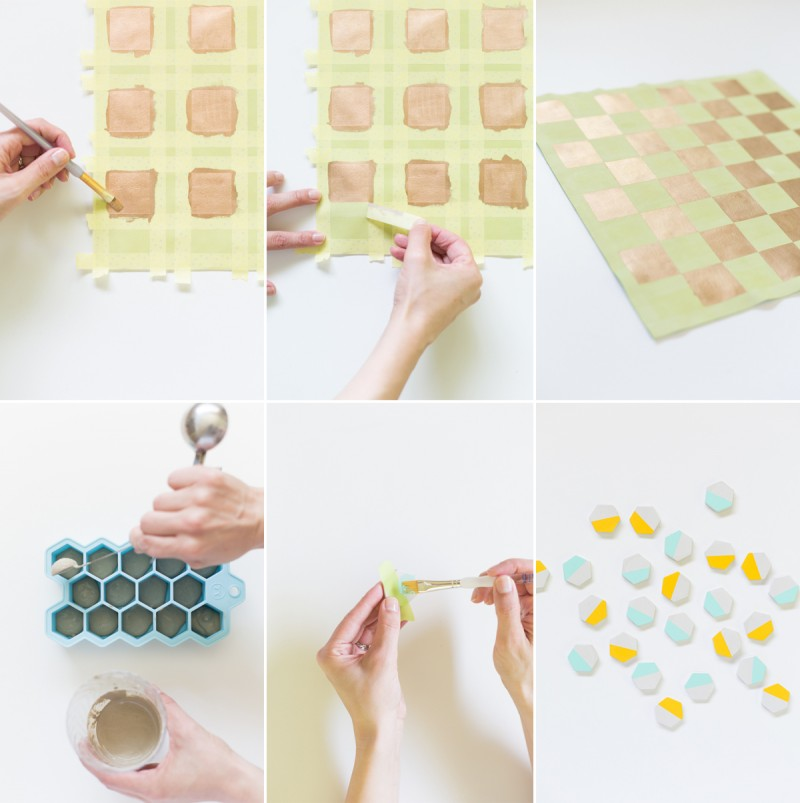 DIY Leather Checker Board Tutorial