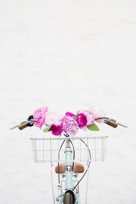 DIY Floral Bicycle Handlebars
