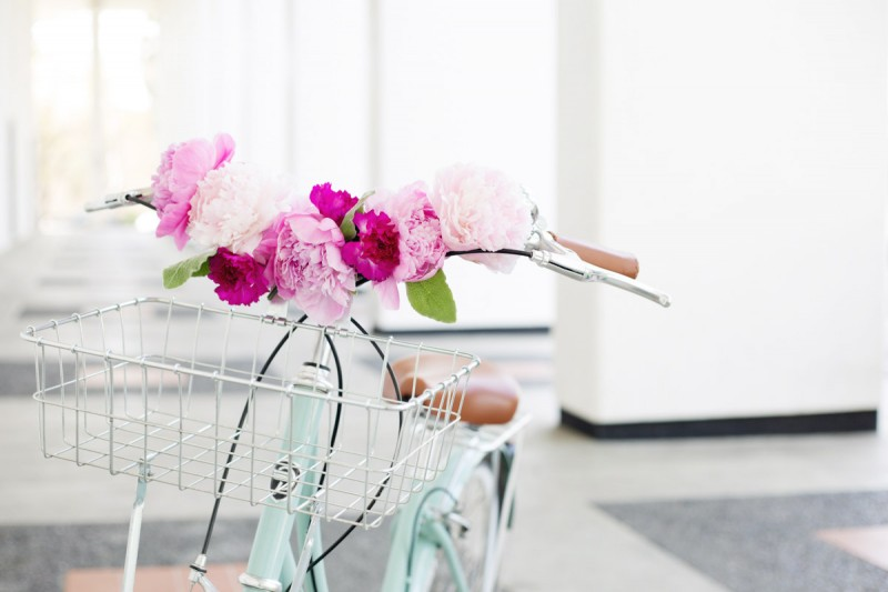 DIY Floral Bicycle Handlebars