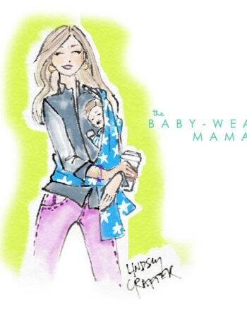Lovely Girl // Baby Wearing Mama