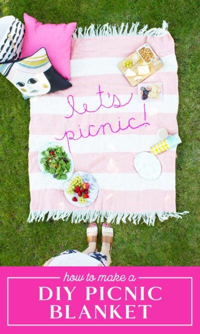 make a diy picnic blanket