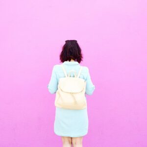 Pink Wall Pink Backpack