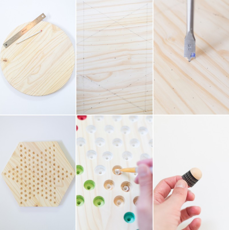 DIY Chinese Checkers Steps