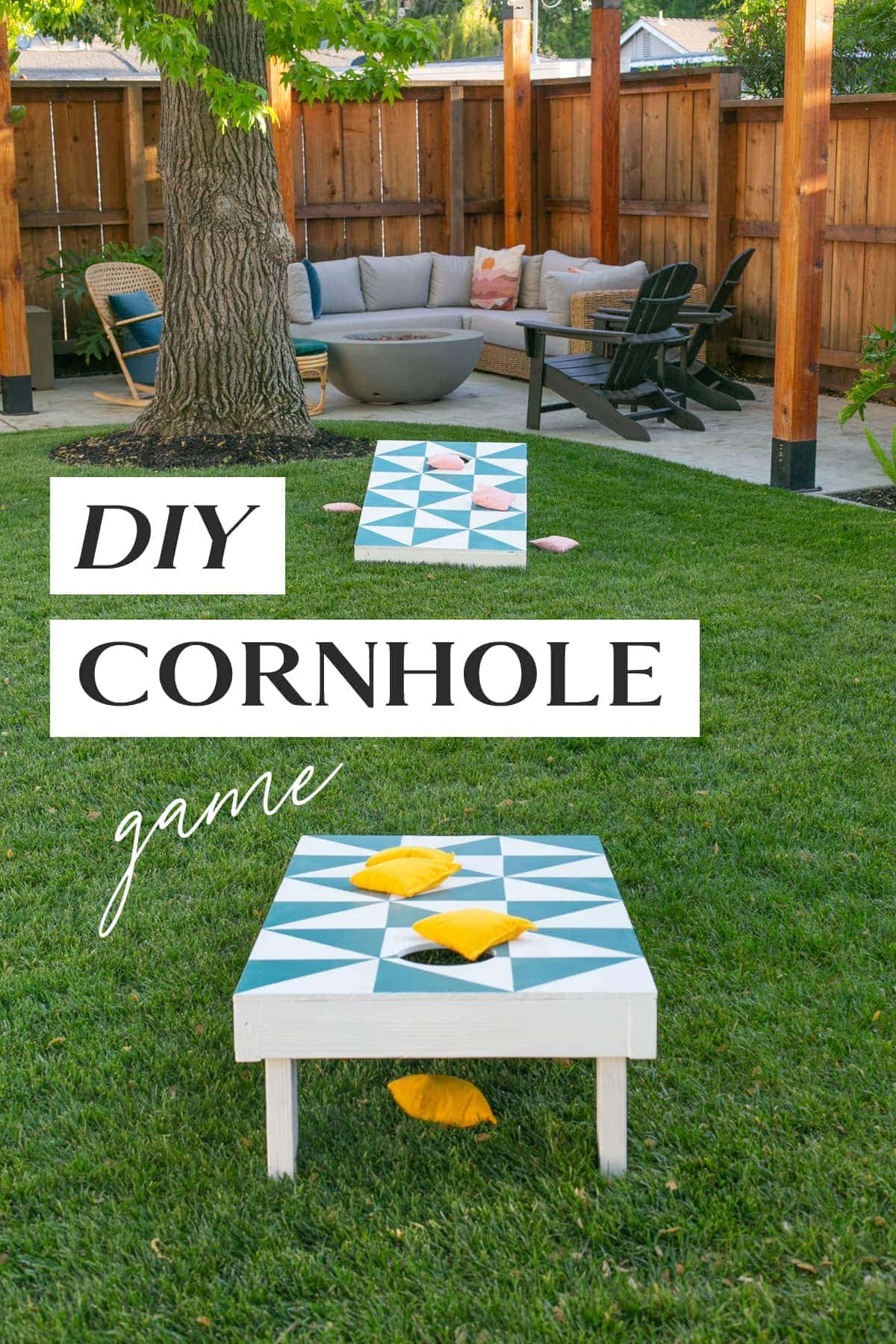 diy cornhole játék