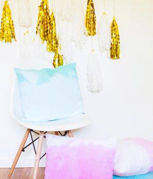 DIY Ombre Dip Dye Throw Pillows thumbnail
