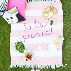 DIY Giant Embroidery Picnic Blanket thumbnail