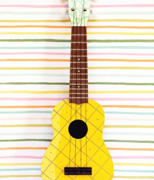 How to Make a Painted Pineapple Ukulele thumbnail